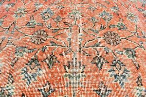 Turkey Rug 3'9'' x 6'6'' ft Vintage Kilim Anatolian Handmade Low Pile Oushak Rug