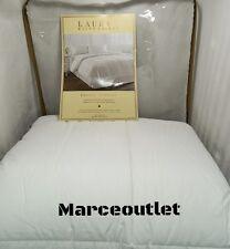 RALPH LAUREN Bronze Comfort FULL / QUEEN Down Alternative Comforter White