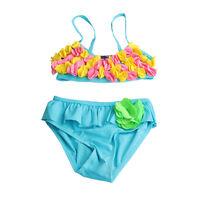 Baby Girls Kids Princess Bikini Tankini Swimwear Swimsuit Swimming Costume Blue