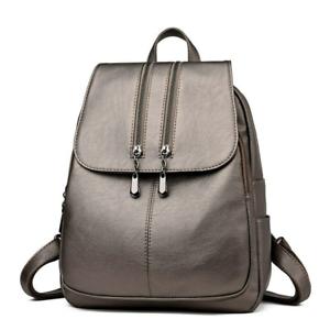 Genuine Leather Women Backpack Crossbody Casual Tote Soft Sheepskin Shoulder Bag