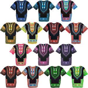 14-Black-Shade-Dashiki-African-Mexican-Poncho-Shirt-Blouse-Cotton-Unisex-Var