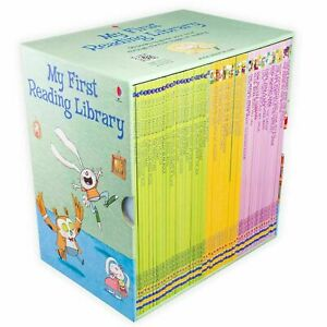 Usborne-My-First-Reading-Library-50-Books-Set-Collection-Read-At-Home-Green
