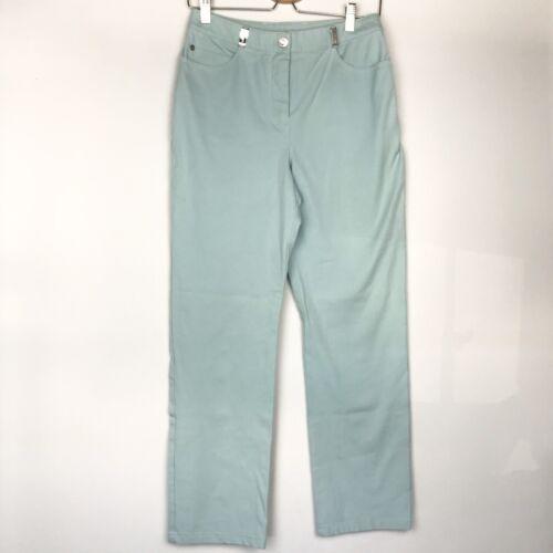St. John Sport Mint Green High Waist Denim Jeans s