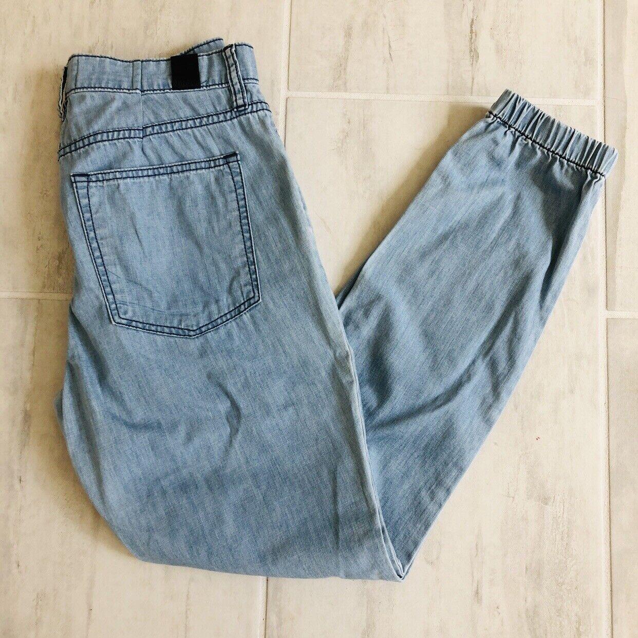 Vince Denim Jogger Jeans Pant Elasticized Cuffs Light Wash Dv193b-2857 Size 27