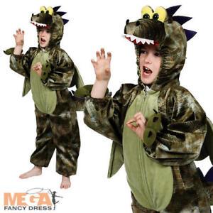 Dinosaur Kids Fancy Dress Prehistoric Reptile Animal Boys Girls Book Day Costume