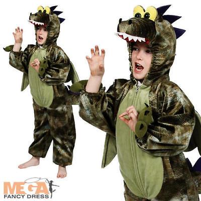 Serio Costume Bambini Dinosauro Preistorico Rettile Animale Ragazzi Ragazze Libro Giorno Costume-mostra Il Titolo Originale Volume Grande