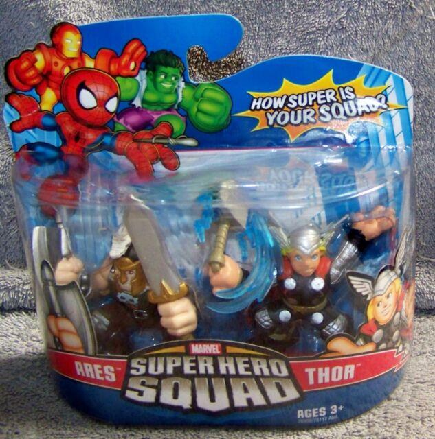 SUPER HERO SQUAD 2007 MARVEL ARES /& THOR SET