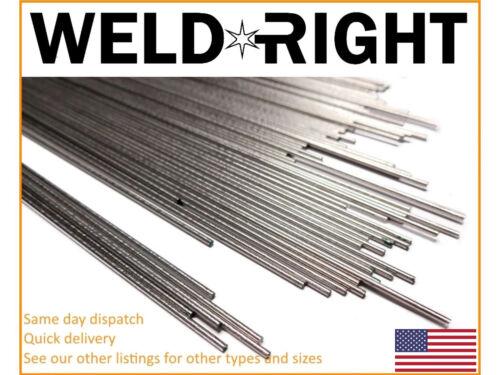 1.6mm x 10-100 Qtys 1//16/'s Aluminium Alu 4043 Tig Filler Welding Rods