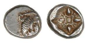 Greek-Ancient-Iona-Miletus-6th-5th-Century-BC-SILVER-1-12th-Stater-Obol-010