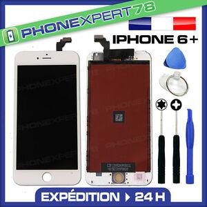 VITRE TACTILE + ECRAN LCD RETINA SUR CHASSIS POUR IPHONE 6 PLUS BLANC + OUTILS