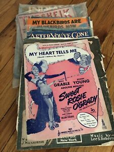 HUGE-Lot-of-200-Vintage-Pop-Broadway-Jazz-Sheet-Music-1920-039-s-1960-039-s