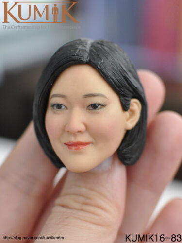 "1:6 Scale KUMIK16-83 Female Head Sculpt F 12/"" Action Figure"