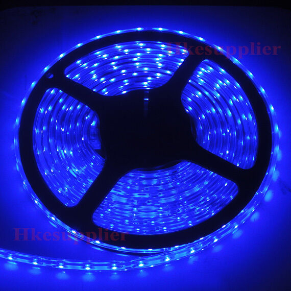5M 300LEDs 3528 Blue Silicone Tube IP65 Waterproof Flexible Strip Lights 12V DC