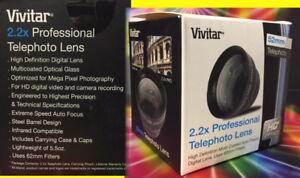 2.2X TELEPHOTO LENS 52mm To Camera PENTAX K100D K10D K11D K110D K200D, GX-1S 2.5