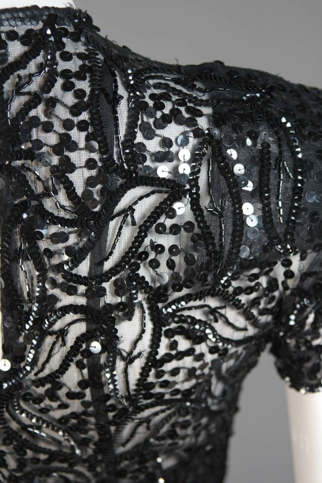 CEIL CHAPMAN Attributed Black Gown Size Small - image 10