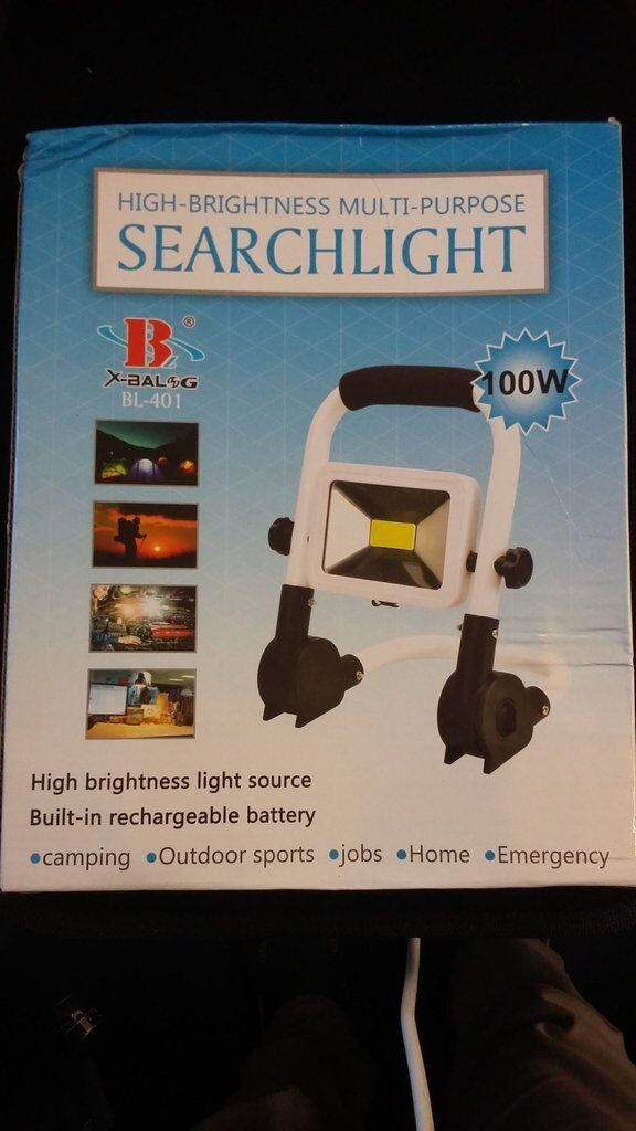Rechargeable multi purpose 100W Light  Search Spotlight work Torch uk  brand