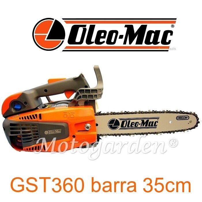 vendita economica Motosega da potatura e taglio taglio taglio legna OleoMac GST360 barra da 35cm Giugiaro Design  80% di sconto