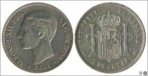 Espagne-Alfonso-XII-Annee-1881-numero-00132-MBC-MBC-5-pesetas-81-M