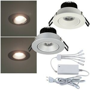 3-4-o-5er-Set-LED-Decken-Einbauleuchten-EEK-A-230V-warmweiss-Einbaustrahler-Spot