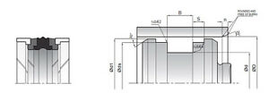 (pack)  Piston packing K18 NBR/TPE/POM ID 175mm-280mm (choose dimensions)