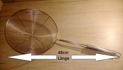 XL SCHAUMLÖFFEL GC Ø 14 cm //// Länge 44 cm EDELSTAHL SCHAUMKELLE SCHÖPFER