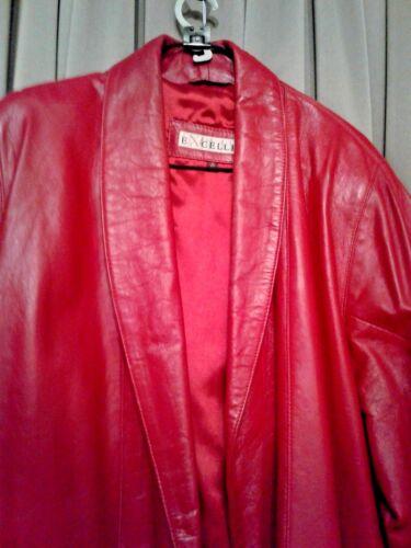 Extra Krave Elegant Designer Coat Sjal Brand Red Læder Excelled Wrap Large ggwX8qRFx
