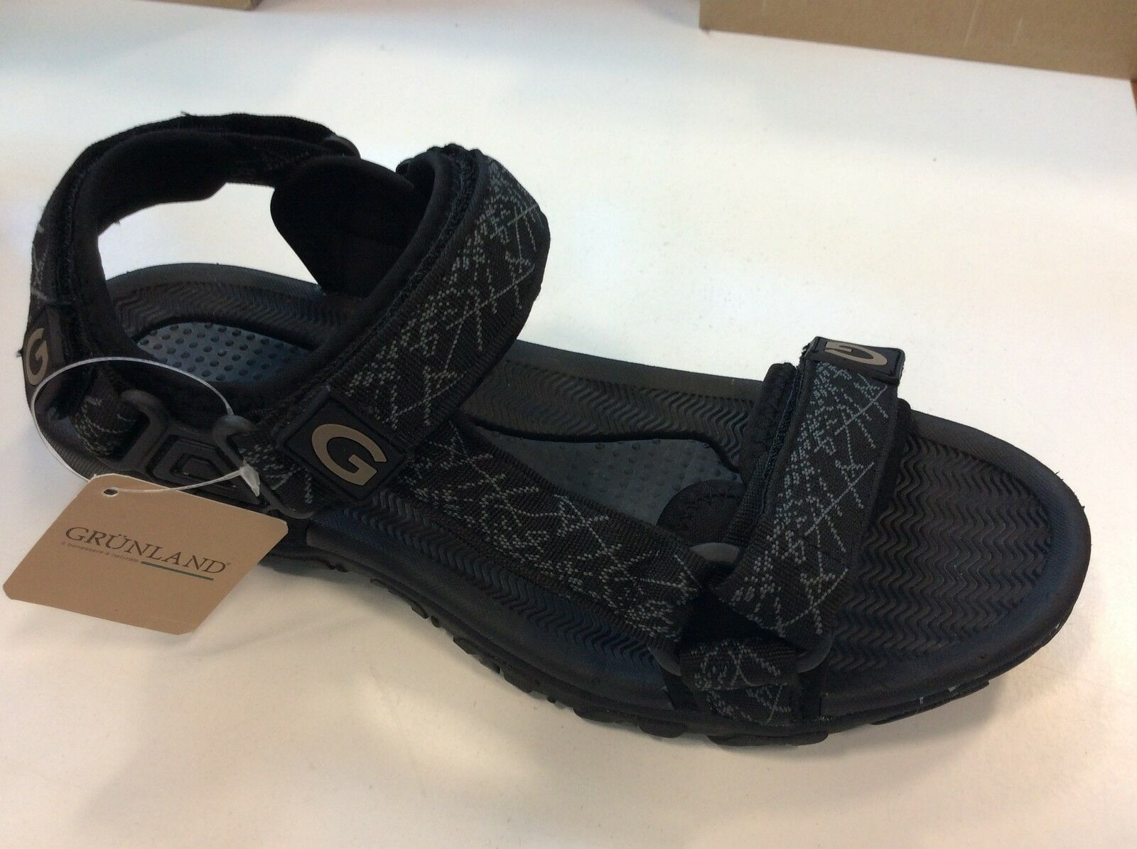 Sandals Adjustable Man Grunland Ispo Art. Sa1211 Fabric Rubber Sole