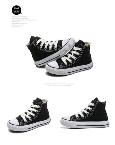 2019 Chuck Taylor Boys Girls High Tops Casual Sneaker Trainers Kids Shoes