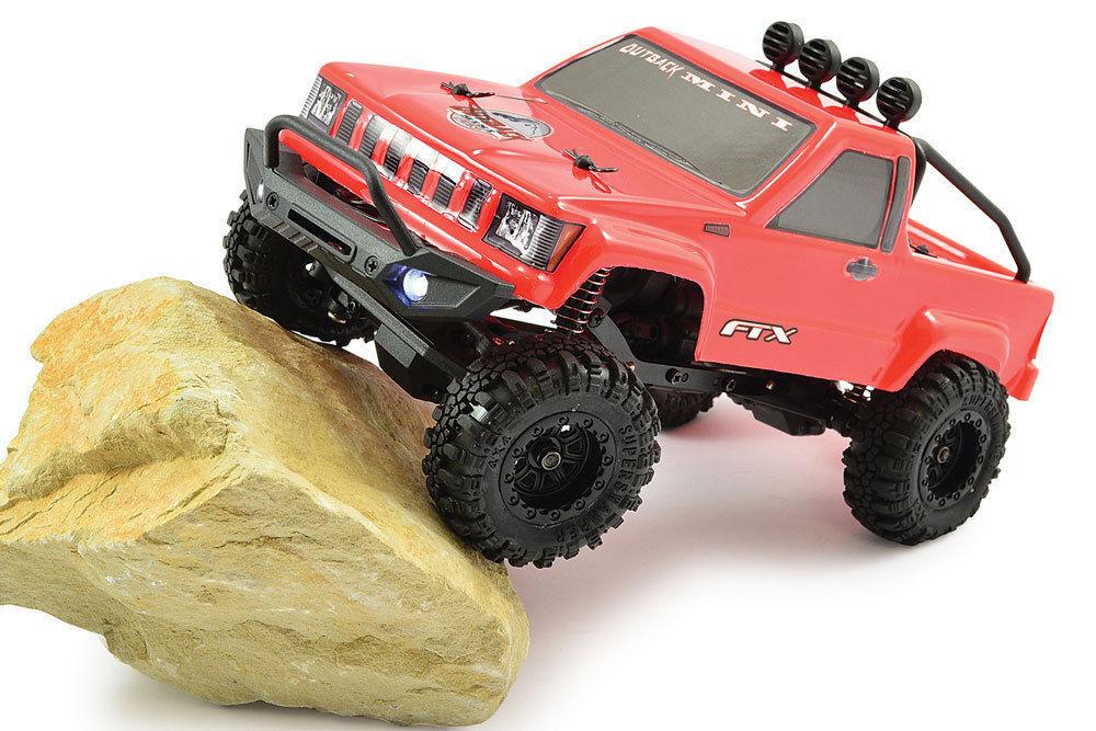 Ftx Outback Mini Trail Rojo camioneta 1 24 listo para correr Rock Crawler RC Coche