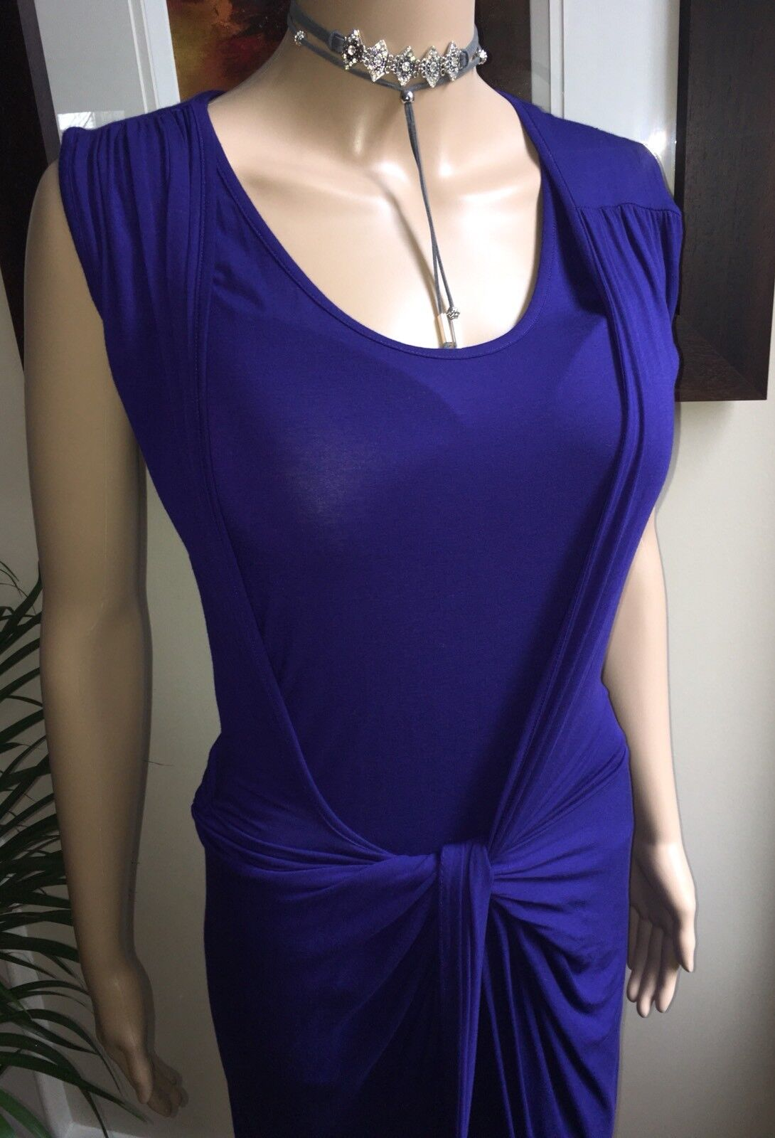 Isabel De Pedro  Stretch Dress In Rich lila Evening Party