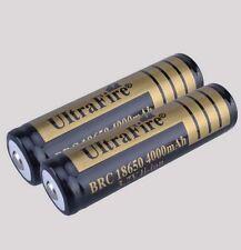 2 Ultrafire 18650 3.7v Li-ion Protected Rechargeable Battery 4000mAh UK STOCK