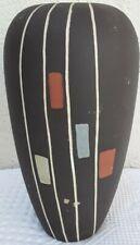 Mid Century Modern West Germany Art Pottery Vase Tall Spring Flower Vase