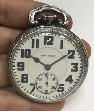 16s Hamilton 992 21j Railroad Pocket Watch Movement