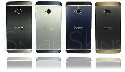 Brushed Metal Two Tone Skin For HTC ONE M7 Wrap Cover Sticker Protector Case