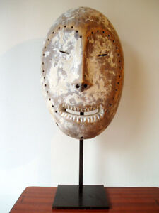 LEGA H=35/55cm RDC Congo Zaïre, LEGA mask DRK Kongo, collection Art Africain - France - Type: Masque Matire: Bois Origine: Afrique Authenticité: Original - France