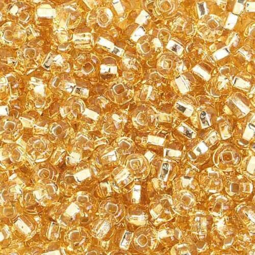 6//0 S//L Gold Glass Seed Beads 40 Grams