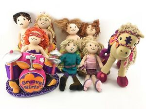 Groovy-Girls-Dolls-Sofa-Horse-Calypso-Drums-Lot-of-11-Toys
