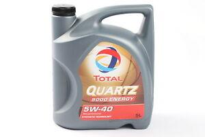 Original TOTAL Motoröl 5W40 Quartz 9000 Energy 5 Liter 148650 VW BMW AUDI