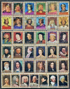 English-Monarchs-Barbuda-43-79-Mint-NH-Complete-Set-37-Different-Royalty