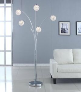 Modern Crystal Floor Lamp Manhattan Contemporary 5 Arch Light ...