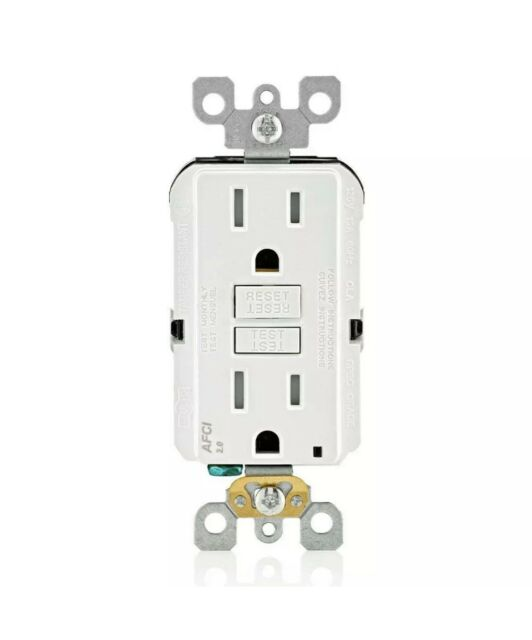 Leviton Afci Outlet Receptacle Indoor Duplex Wall 15a