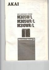 Bedienungsanleitung Owners Manual Akai Midi Anlage M305 W/L WR/L 310 WR/L  B259