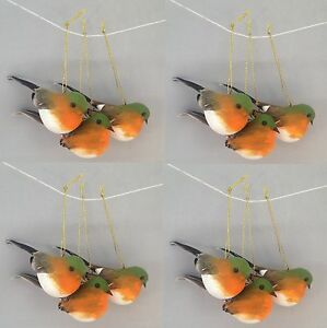 Hanging-Robin-Birds-Christmas-Tree-Decoration