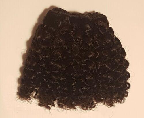 Human Hair Rooting Reborn Babies Toddler Dark Brown Afro Curly Curls NOT Mohair