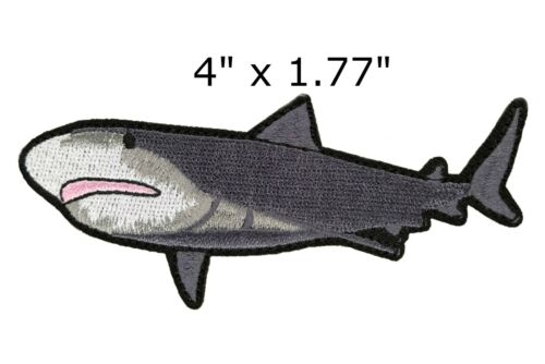 GREAT WHITE SHARK EMBROIDERED PATCH iron-on FISH applique Carcharodon Carcharias