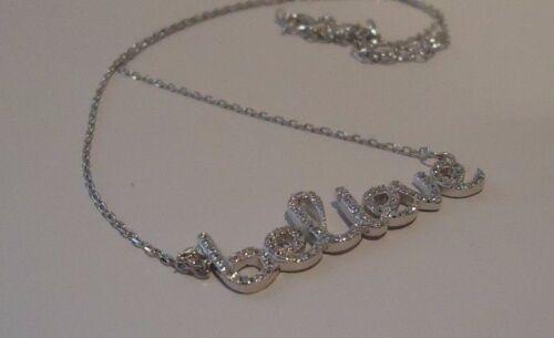 Crois Collier Pendentif avec 1.25 Ct Labo Diamants//Argent Sterling 925//18 in environ 45.72 cm
