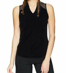 f14f179ea8 Details about Under Armour UA Womens SM Fitted HeatGear Perpetual  Sleeveless Black Tank NWT