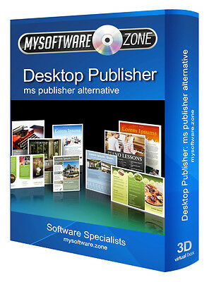 DESKTOP PUBLISHER 2007 2010 2011 2017 FOR MICROSOFT MS WINDOWS CD