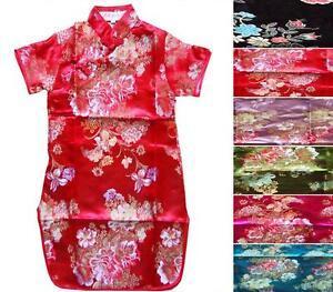 Precioso-chino-japones-Orientales-Para-Ninos-Ninas-Vestido-De-Noche-De-1-A-9-Anos