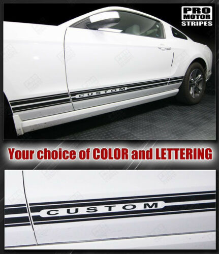 Ford Mustang 1994-2019 Rocker Panel Stripes Decals Choose Color